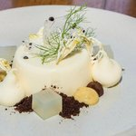 White chocolate and fennel pannacotta