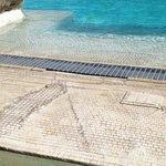 L'entrée de la piscine attention aux mycoses