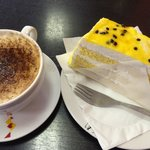 Cake and coffee for £3