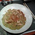 Pizza Japonesa De Verduras Y Algas