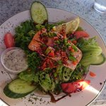 Salmon Salad with Maple Glaze