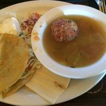 Albondigas Soup and Ground Beef Taco