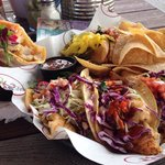 Best fish tacos we've ever eaten. Double wrapped in both a corn and flour tortilla. Included pur