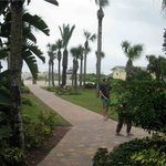 path from the hotel to the beach