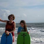 kids on the beach, hire body boards