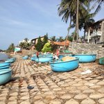 Just down from the resort these fishing tubs