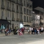 Main piazza at almost midnight - a village party!