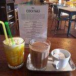 Masala chai and mango shake