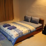 queen size bed on first level