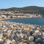 Samos Town harbor