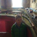 Model Train upstairs near the printing press