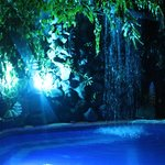 Try a soothing massage under the pool waterfall