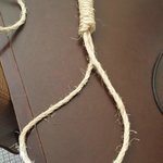 One of two nooses in safe - pic taken on desk - kept one