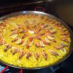 Huge paella pan for a party, amazing! :)