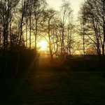 Sun rise at grren hill farm landford