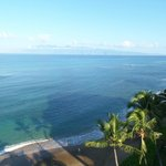 Balcony view looking at the island of Moloka'i