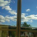 Ausblick aus dem Hallenbad