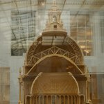 Scaled model of the construction of the dome.