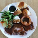 roast dinner, served daily