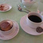 コーヒーと デザートのプリン&おまけのラスク