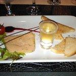 Fois gras, clin d'oeil avec le petit moelleux.
