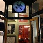 The entrance into the bar