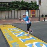 Boston marathon finished line