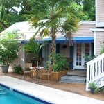 two side by side rooms and veranda just off pool