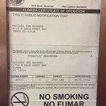 Here is the expired elevator inspection certificate.