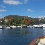 From the boat on a beautiful autumn day.
