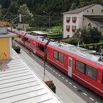 The Bernina Express stops close to the hotel.