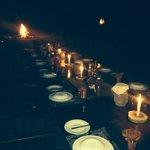 EVENING DINNER SET UP