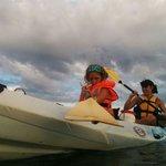 Kayak con mis chicas