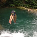 Waterfall diving on Tour with Alrick
