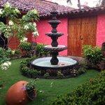 Hermoso jardín interior
