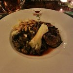 Roe steak with mushrooms and home made spatzle