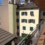 Balkon vor den Zimmern