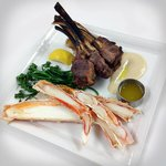 Lamb Chops with Crab Legs