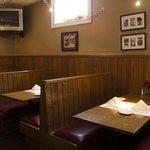 Bar booths.