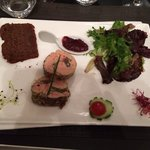 Marbré de foie gras au confit de figues avec pain d'épices maison