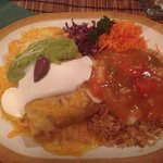 A delicious Chimichanga meal. So filling and delicious!