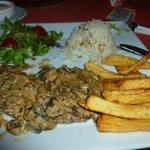 Delicious sauce on turkish meatballs