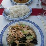 Poulet bambou champignons noir et curry