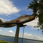 THIS IS A PICTURE OF THE CANADIAN AIR SHOW PLANE OF THE 50,S AND 60,S.