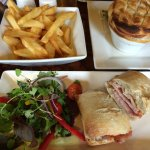 Pie of the day and bacon&brie baguette