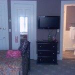 TV, Room Door, Bathroom Door.