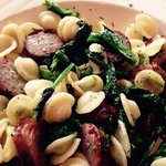 Sausage with broccoli rabe and Orrchertia