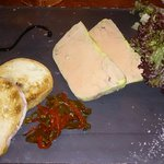 Foi gras poivron confit