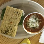Turkey Cranberry Sandwich & Tomato Basil Soup