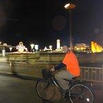 Riding past Tienanmen Square at night